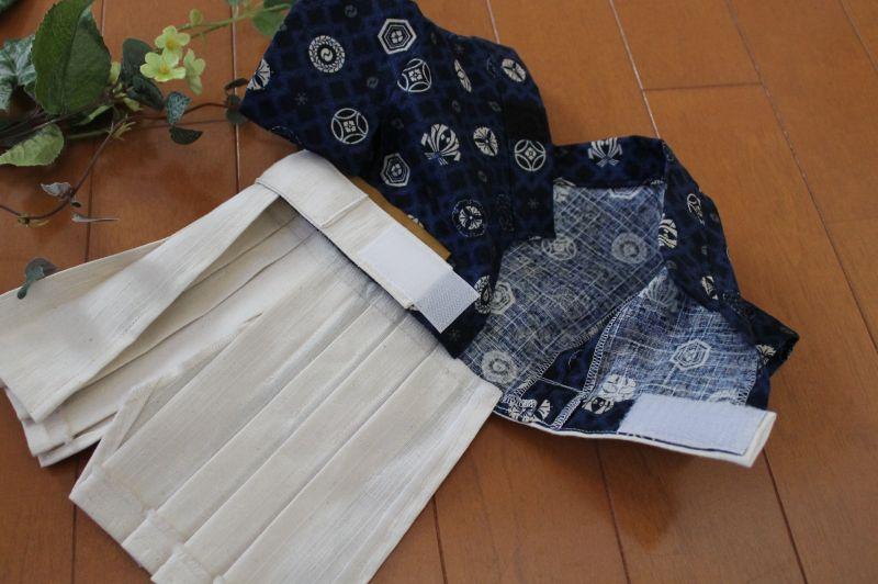 画像3: お祭り柄×藍色袴【2〜3号・オーダー】