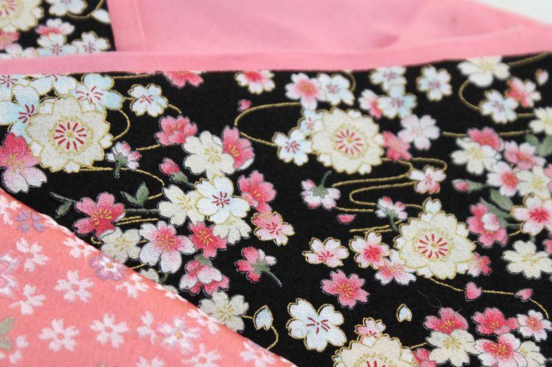 画像2: *オーダー晴れ着*黒×ピンク×桜