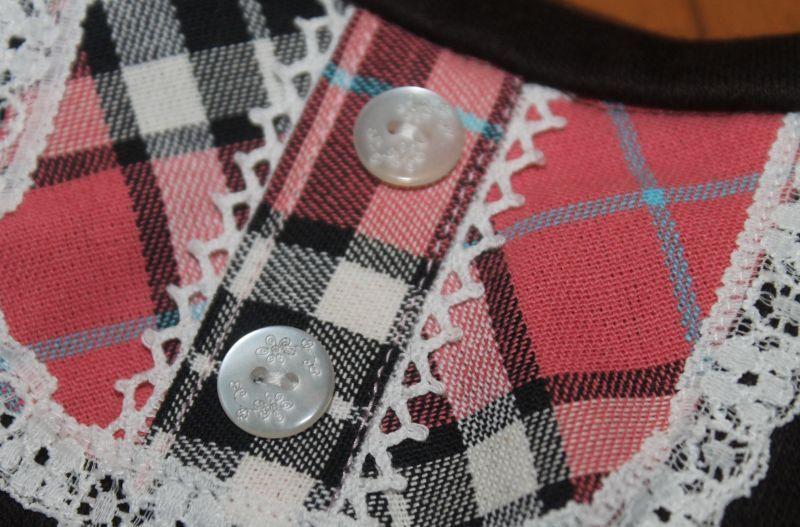 画像4: タータンチェック*バルーン袖のワンピ【2〜3号・オーダー】