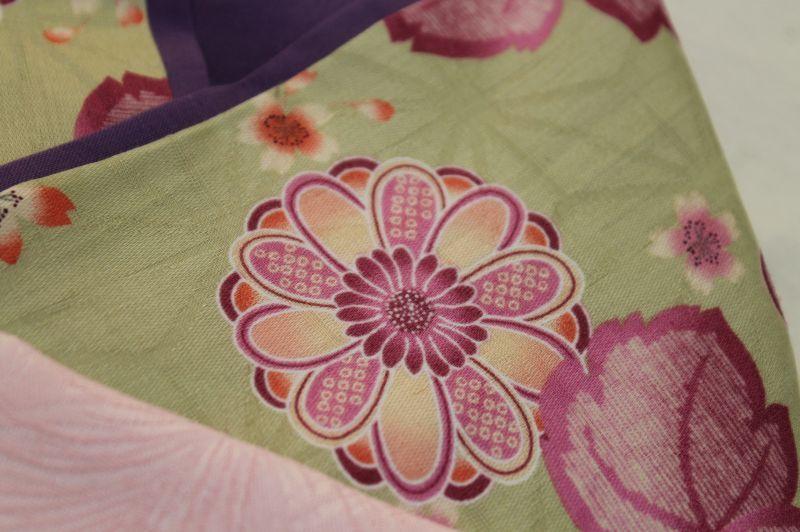 画像3: *オーダー晴れ着*若草×ピンク帯