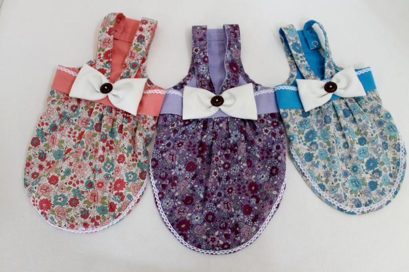 画像1: YUWA小花柄のサロペットスカート【2〜3号・オーダー】