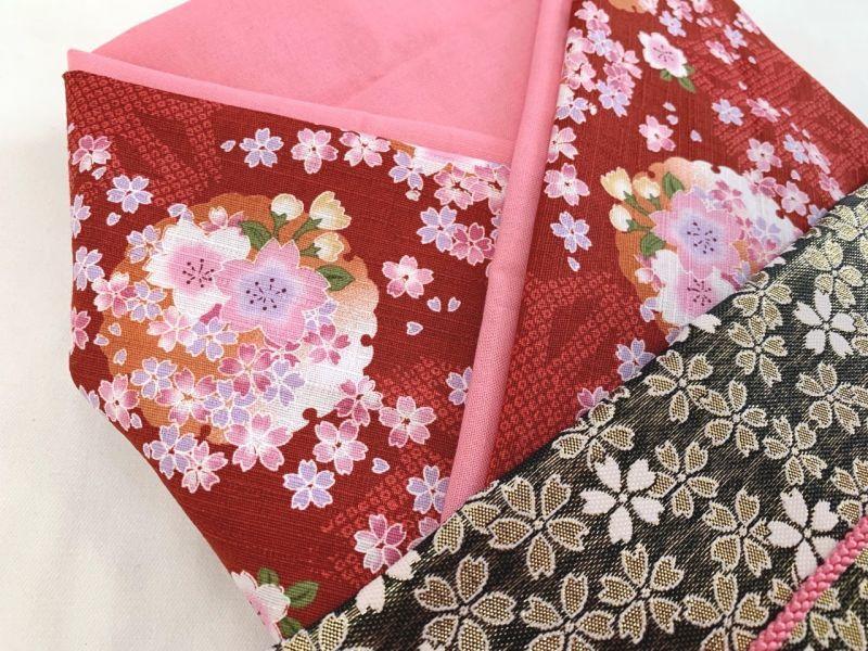 画像2: *オーダー晴れ着*赤×ピンク×桜