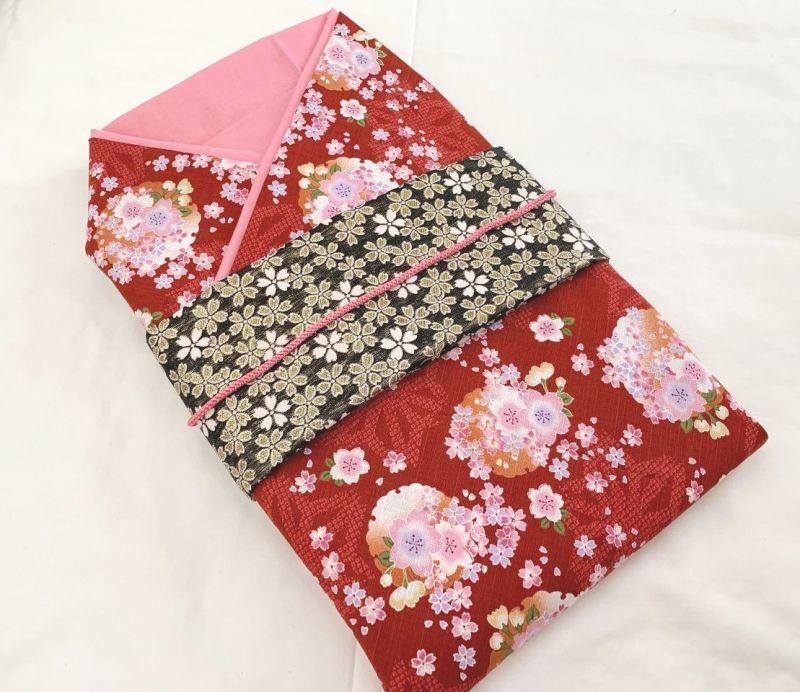 画像1: *オーダー晴れ着*赤×ピンク×桜